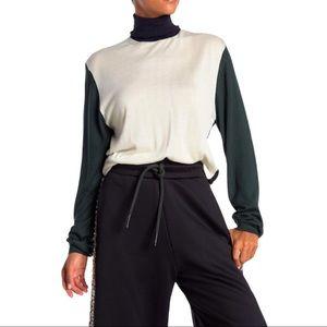 Burberry Mazon Colorblock Knit Turtleneck Medium